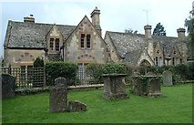 SP0228 : Churchyard and former school, Winchcombe by Andrew Hill