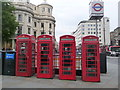 TQ3080 : London: red phone boxes, 451 Strand by Chris Downer