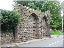 SO6606 : Abutment of old railway bridge by M J Richardson