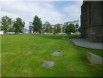 NS4863 : Paisley Abbey: the former Abbey Churchyard by Lairich Rig