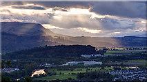 NS8095 : View west towards the Gargunnock Hills by Doug Lee