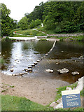SE0754 : Stepping stones at Bolton Priory by Stephen Craven