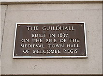 SY6778 : Guildhall plaque by Neil Owen