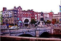 O1534 : O'Connell Bridge across the River Liffey by Joseph Mischyshyn