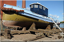 ST5772 : Boat in boat builder's yard by Philip Halling