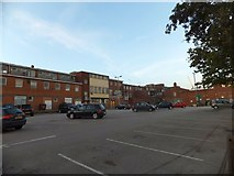 SX9292 : Car park and rear elevations of shops in Sidwell Street, Exeter by David Smith