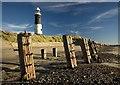 TA4011 : Spurn beach and lighthouse by Paul Harrop