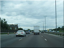 SE3026 : M62 westbound near Ardsley Common by Colin Pyle