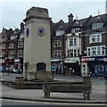 TQ2587 : War memorial and shops, Golders Green by Andrew Hill