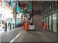 SP0686 : Moving something heavy, New Street station rebuild, Stephenson Street by Robin Stott