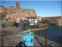 NT6779 : Coastal East Lothian : Blue Boxes At Victoria Harbour, Dunbar by Richard West