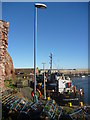 NT6779 : East Lothian Townscape ; Lamp-post At Victoria Harbour, Dunbar by Richard West