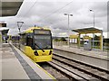 SJ9299 : Ashton West Metrolink Stop by David Dixon