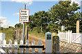 TM3980 : Millpost level crossing by Richard Croft