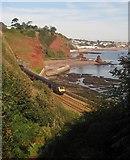 SX9675 : Railway line near Shell Cove, Holcombe by Derek Harper