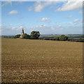 SP3241 : Compton Pike across a field by Robin Stott