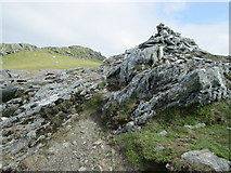 NN6240 : Cairn before the summit, Beinn Ghlas by Peter S