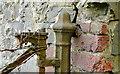 J4481 : Old cast-iron gatepost, Ballyrobert near Helen's Bay by Albert Bridge