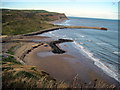 NZ7120 : Skinningrove  harbour  from  the  Cleveland  Way by Martin Dawes