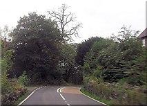 SH5840 : Sharp bend at Portreuddyn Castle by John Firth