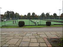 TQ2472 : Tennis Courts in Wimbledon Park by Paul Gillett