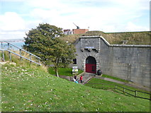 SY6878 : Nothe Fort, entrance by Mike Faherty