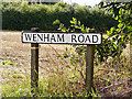TM1141 : Wenham Road sign by Adrian Cable