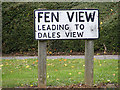 TM1141 : Fen View sign by Adrian Cable