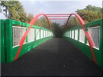 SH5968 : Lon Ogwen yn croesi'r ffordd yn Felin Hen / Lon Ogwen crossing the road at Felin Hen by Ceri Thomas