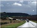 SE8595 : Traffic on a moorland road by Pauline E