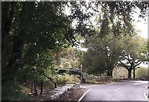 SH6044 : Pont Talyrni cross roads by John Firth