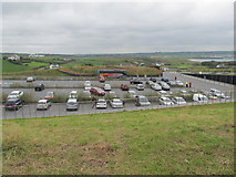 C9443 : The car and coach park at the Giant's Causeway Visitor Centre by Eric Jones