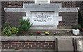 TQ4686 : All Saints, Goodmayes - Foundation stone by John Salmon