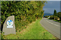 SH5740 : National Park Boundary, Tremadog by Peter Trimming