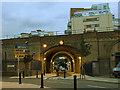 TQ3479 : Marine Street railway bridge by Stephen Craven
