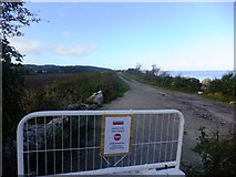SJ1779 : Barrier to Wales Coast Path by Richard Hoare