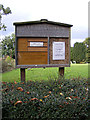 TL9141 : All Saints Church Notice Board by Geographer