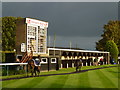 TL2072 : Sunshine before the storm - Huntingdon Racecourse by Richard Humphrey