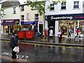 H4572 : A wet day again in High Street, Omagh by Kenneth  Allen