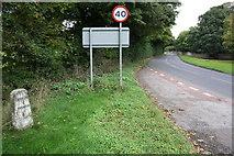 SU2489 : Faringdon Road from entrance to Shrivenham Park Golf Club by Roger Templeman