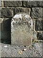 SE2140 : Boundary stone on the A658 by Humphrey Bolton
