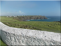 SW7011 : The Lizard: view over the lighthouse wall by Chris Downer
