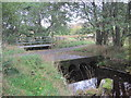 NY7789 : Footbridge, Road and Ford on the Black Burn by Les Hull
