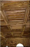 SJ5415 : The timber ceiling of the Chapter House, Haughmond Abbey, near Haughton, Shrops by P L Chadwick