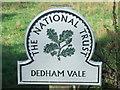 TM0732 : Dedham Vale National Trust Sign by Keith Evans