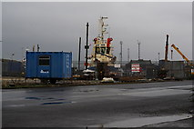 TA0827 : A boat in William Wright Dock, Hull by Ian S
