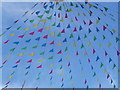 SW8032 : Falmouth: bunting over Arwenack Street by Chris Downer
