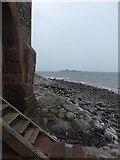 SD2364 : Steps and shore, Roa Island by Rob Farrow