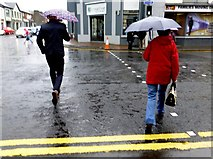 H4572 : Brollies at the ready, Omagh by Kenneth  Allen