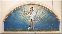 TQ2876 : St Bartholomew, (now St Nectarios), Battersea - Mural by John Salmon